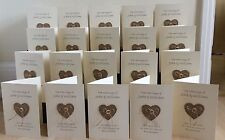 10 x Order Of Service Rustic Hessian Heart Vintage