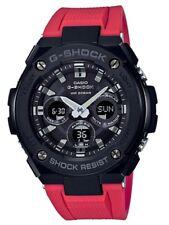 Casio G-Shock G-STEEL *GSTS300G-1A4 Solar Midsize Black Case Red Resin Watch