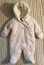 New First Impression Pink Baby Girl's All-in-One Winter Snowsuit Sz 0/3 M $70
