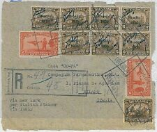 NICARAGUA -  POSTAL HISTORY - FRONT of COVER to ITALY via ITALIAN STEAMER - 1936