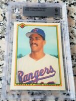 JUAN GONZALEZ 1990 Bowman TIFFANY RARE SP Rookie Card RC BGS 9 MINT $ 434 HRs $