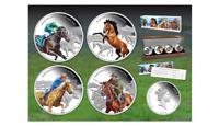 2014 LEGENDARY HORSES of Australia $1 Niue 4 Coin Silver Proof Set