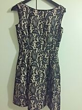 1d2ca42e1a2 ZARA BLACK - BEIGE EMBROIDERED TULLIP COCKTAIL WEDDING MINI DRESS Size S