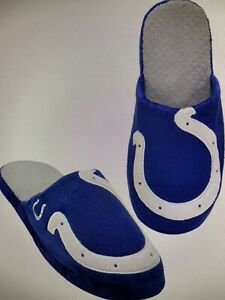 Indianapolis Colts NFL Men's Big Logo Slip On Slippers Size Large (11/12) - NWT