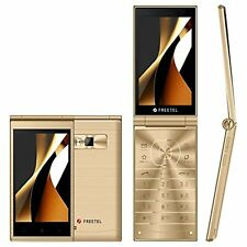 FREE TEL MUSASHIFLIP PHONE Gold Free Shipping with Tracking number New Japan