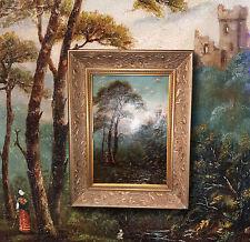 Ungherese Tardo antica roma intorno 1880: Paesaggio con Rovine del castello.