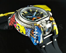 Invicta 52mm Bolt Zeus MAGNUM Chronograph Dual Time Hydroplated Graffiti Watch