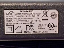 NEW GENUINE DSA-15P-24 US 240120 3COM 3C10444US SWITCHING POWER ADAPTER 24V 0.5A