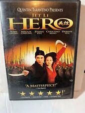 Hero (Dvd, 2004) Jet Li Martial Arts Donnie Yen Quentin Tarantino Rare #