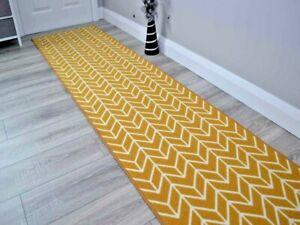 Mustard Extra Long Wide Hall Hallway Corridor Very Narrow Floor Carpet Rug Cheap