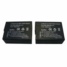 TWO(2) battery for Panasonic DMW-BLC12 E Lumix DM FZ200 BLC12 BLC12PP /1200mAh