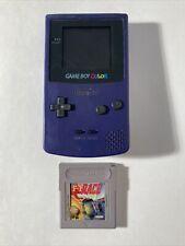 Nintendo Game Boy Color Grape Purple System Handheld Console CGB-001 Bundle Game
