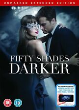 FIFTY 50 SHADES DARKER UNMASKED EXTENDED EDITION NEW SEALED DVD Digital Copy UK