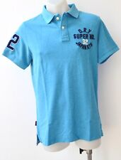 Superdry Mens Polo T Shirts - BLUE - SIZES - M,XXL & 3XL- NEW