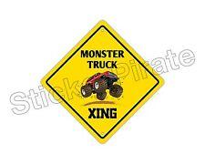 "*Aluminum* Monster Truck Crossing Funny Metal Novelty Sign 12""x12"""