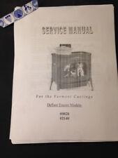 Vermont Castings Defiant Encore Models 0028 - 2140  wood stove Service manual