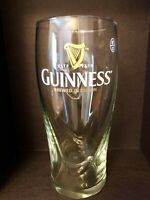 GUINNESS Brewed In Dublin Galaxy Style Pint Beer Glass Raised 3D Harp 6-3/4""