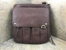 Bulldog Cross Body Concealed Carry Purse - Brown BDP-035 Small Auto's & Rev