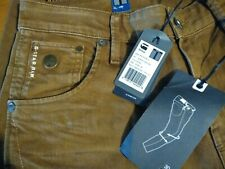 G Star Raw men's tapered jeans size W28 L34 brown.
