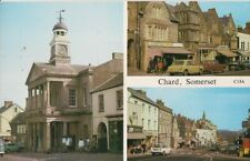 SUPERB OLD 3 VIEW POSTCARD - CHARD - SOMERSET C.1975 Vintage Cars