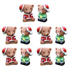 10 Miniature Micro Landscape Bonsai Ornament Fairy DIY Decor Christmas Bears