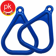 Trapeze Ring Bar Swing set Play playground Backyard Jungle Gym Hand Grip 2 Blue