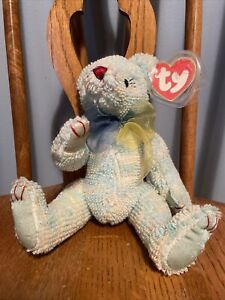 Ty Attic Elizabeth The Blue Bear Mint With Mint Tags