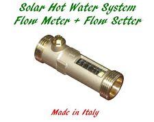 Solar Hot Water Flow Meter Flow Regulator Setter