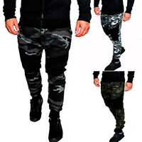 Men Camo Cargo Joggers Jogging Running Pants Army Bottom Track Sports Sweatpants
