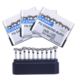 3Box AZDENT Dental Diamond Burs Coarse Emery FG Polishing Drills Circular wheel