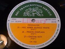 ** BBC TRANSCRIPTION SERVICE * EARTHA KITT AMBER BLANCO WHITE GAOLBIRD PRISON LP
