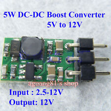 5W DC-DC Boost Converter Step Up 5V to 12V Power Module para Mobile Power LED