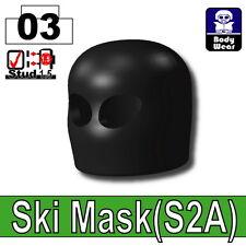 Black Ski Mask (W265) Army Balaclava compatible with toy brick minifigures Black