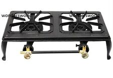 9KW DOUBLE CAST IRON GAS BOILING RING BURNER LPG PROPANE STOVE CAMPING CATERING