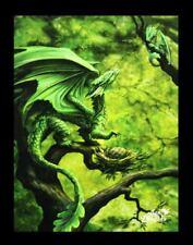 Pequeño Lienzo de pared walddrache - bosque DRAGON - Anne Stokes Fantasy