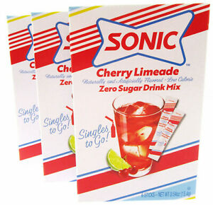 Sonic Cherry Limeade ~ Packets ~ Zero Sugar ~ Drink Mix ~ Lot of 3