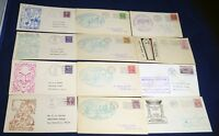 12 Cachet Event Cover Collection Stamps Postage Used USA