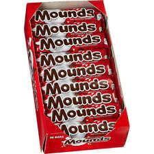 Mounds, Dark Chocolate  Candy Bars, 1.75 oz, 36 ct
