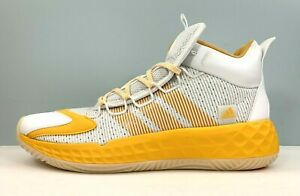 Adidas Pro Boost Mid Basketball Shoes White Yellow FX9206 Men Size 13