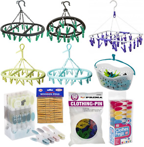 Laundry Clothes Peg Sock Underwear Washing Clothes Drying Rack Pegs Hanger Airer