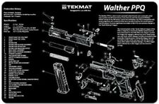 TekMat for Walther PPQ Handgun - High Quality Cleaning Mat Black, disassembly