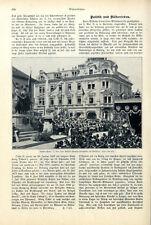 Schiller-Fête Weimar roi Friedrich August V. Saxe Empereur Franz Josef 1905