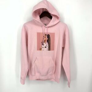 Ariana Grande Hoodie Womens Small Hoodie Photo Logo Pink Pullover Jumper