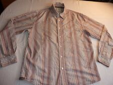 FAT FACE SIZE L/46 STRIPED COTTON LONG SLEEVE CASUAL SHIRT