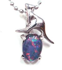 Children Jewellery Gift Lady Gift Natural Opal Pendant Solid 925 Sterling Silver