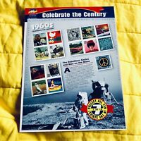 USA 15 x 33 Cent 1999 Celebrate the Century 1960s Stamp Sheet BEATLES WOODSTOCK