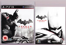 LIKE NEW Batman Arkham City W MANUAL Playstation 3 PS3 Game