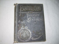 Beautiful Gems of Thought and Sentiment 1890 Northrop Illustrated 151E