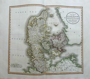 Kingdom of Denmark Jutland Zeeland Fyn Holstein Copenhagen 1801 Cary folio map