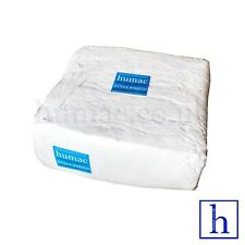 More details for white sheeting lint free wiping cleaning polishing cotton cloth rag sheet humac